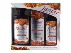 FARMONA Jantar szampon 300ml + mgiełka do włosów 200ml + odżywka 100ml