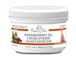 Winogronowy żel z ruszczykiem i kasztanowcem 350 g FarmVix
