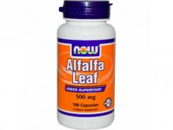 NOW Alfalfa Leaf 500 mg 100 kaps.