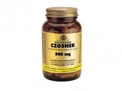 SOLGAR CZOSNEK STANDARYZOWANY 500 mg 90 kaps.