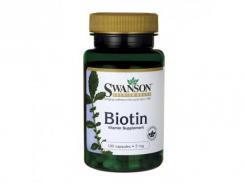 SWANSON Biotyna Witamina H 5 mg 100 kaps.