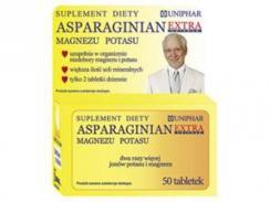 Asparaginian Extra, magnezu i potasu x 50 tabletek