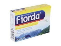 Fiorda, smak cytrynowy, 30 pastylek