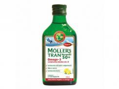 Tran Mollers norweski 50+, cytrynowy, 250ml