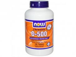 NOW Chewable C-500, Orange, 100 tabl.