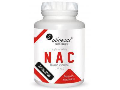 NAC N-Acetyl-L-Cysteine 500 mg 100kaps. Aliness