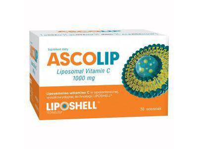 ASCOLIP Liposomalna witamina C 1000mg 30sasz.