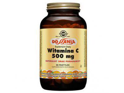 Solgar Witamina C pomarańcza 90 do ssania