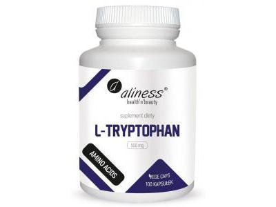 L-Tryptophan 500 mg 100 kapsułek Aliness