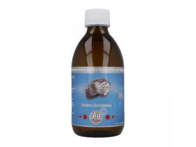 NANO SREBRO koloidalne niejonowe 50 ppm 300 ml