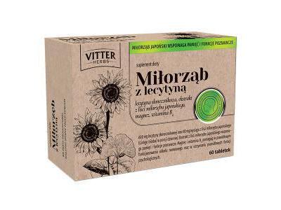 Miłorząb z lecytyną Vitter Herbs 60 tabletek