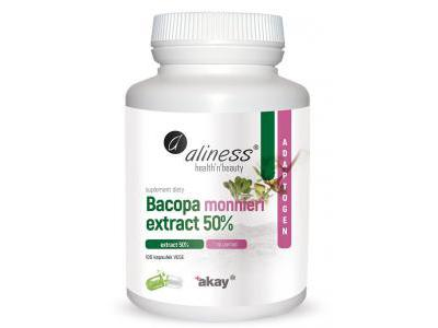Bacopa monnieri extract 50% 100 kaps. Aliness