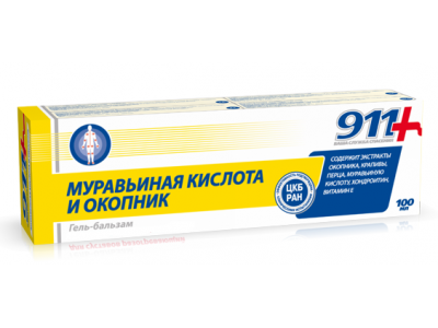 Żel Balsam kwas mrówkowy żywokost 911 100 ml
