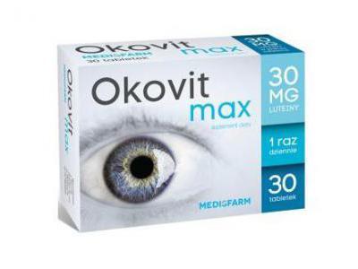 OKOVIT MAX 30 mg LUTEINY 30 kapsułek