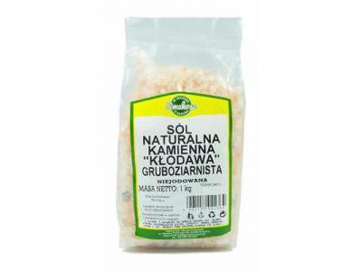 SMAKOSZ Sól naturalna kamienna gruboziarnista Kłodawa 1kg