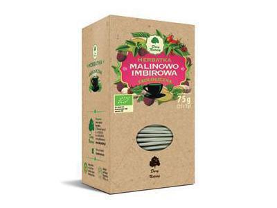 Herbatka Malinowo-Imbirowa EKO 25x3g DARY NATURY