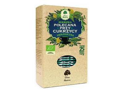 Herbatka Polecana przy Cukrzycy EKO 25x2g DARY NATURY