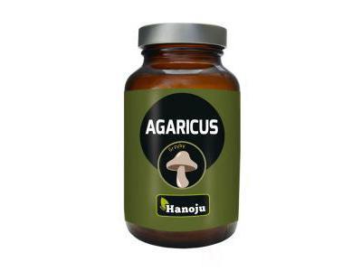 Agaricus ekstrakt 45% 400mg Grzyby 90 tabletek Hanoju