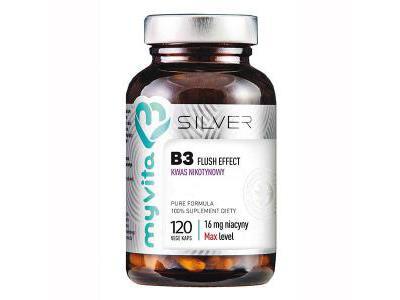 Witamina B3 kwas nikotynowy 120 kapsułek MyVita