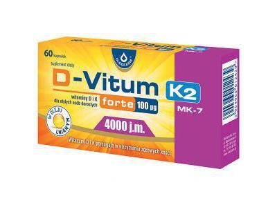D-Vitum Forte 4000 j.m. K2 MK-7 60 kapsułek