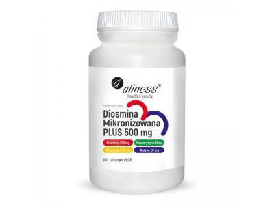 Aliness Diosmina mikronizowana PLUS 100 tabletek