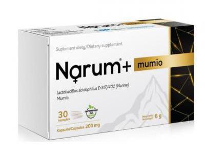 Narine Narum+ Mumio 200 mg 30kapsułek