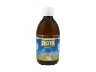 Nano-Złoto koloidalne 10ppm 300ml PRO AKTIV