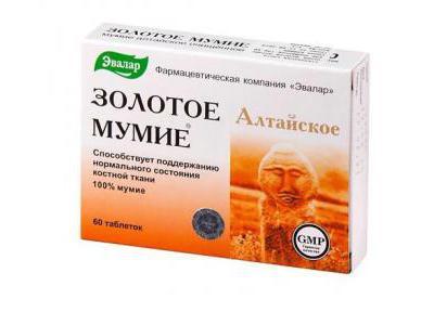 ZŁOTE MUMIO ałtajskie mumio oczyszczone 60 tabletek