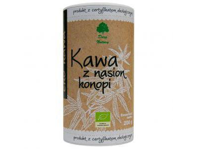 Kawa z nasion konopi EKO (tuba) 200g Dary Natury