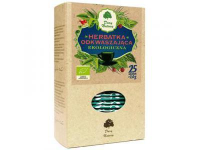 Herbata Odkwaszająca fix BIO 25x2g DARY NATURY