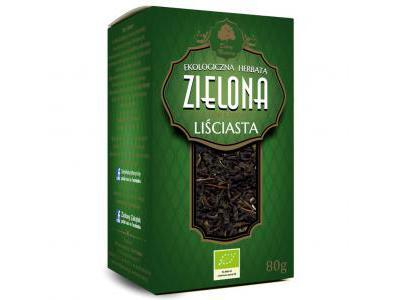 Herbata Zielona liściasta Eko 80g Dary Natury