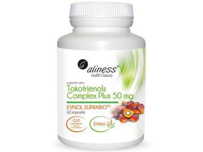 Aliness Tokotrienols 50 mg EVNOL SUPRABIO 60 kaps.