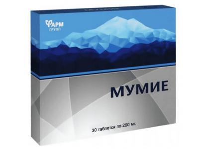Mumio oczyszczone shilajit Rosja 60 tabletek