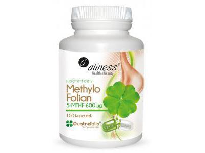 Aliness KWAS FOLIOWY 5-MTHF Methylo Folian 100kaps
