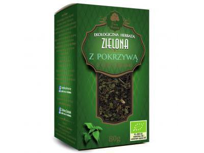Herbata Zielona z Pokrzywą EKO 80g Dary Natury