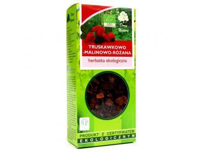 Herbatka Truskawkowo-Malinowo-Różana EKO 100g Dary Natury