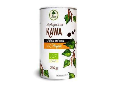 Kawa czarna mielona z chagą EKO 200g Dary Natury