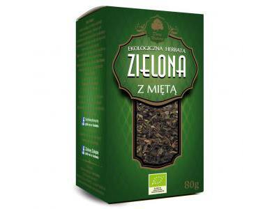 Herbata Zielona z Miętą Eko 80g Dary Natury