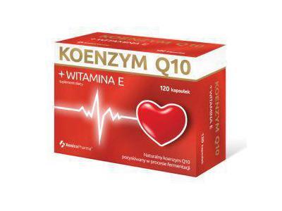 Koenzym Q10 + Witamina E 120 kaps.