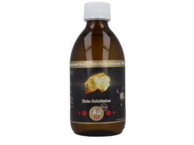 NANO ZŁOTO Koloidalne AU500 50 ppm 300 ml