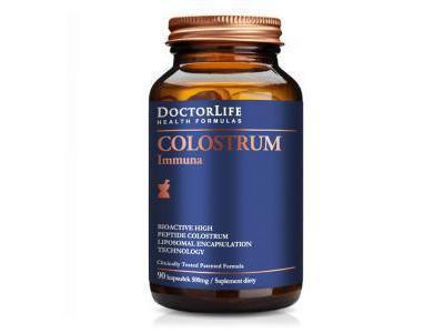 Colostrum Immuna Bio-aktywne Kolostrum 90 kaps. Doctor Life
