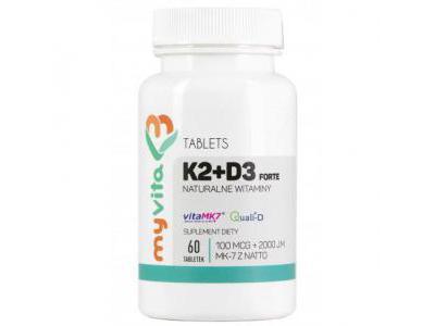 WITAMINA K2 MK7 100mcg + D3 2000iu 60 tab MyVita