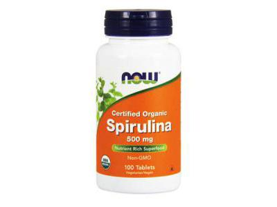 NOW FOODS Spirulina Certified Organic 500mg 100 tabl.