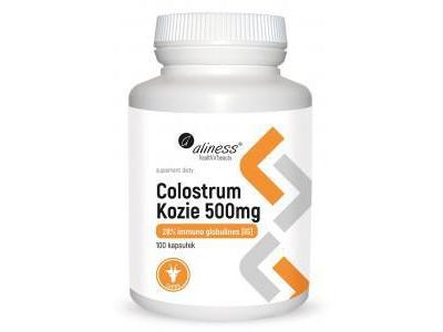 Colostrum Kozie IG 28% 500 mg 100kaps. Aliness
