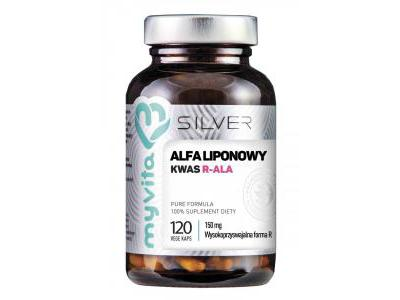 Kwas R-ALA liponowy 150 mg 120 kapsułek MyVita SILVER