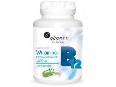 Aliness Witamina B12 Methylcobalamin 1000µg 100 kaps.