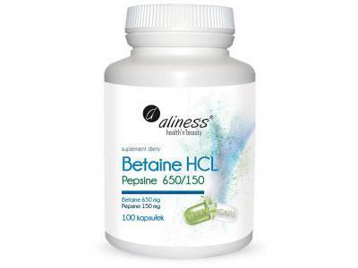 Aliness Betaine HCL 100 kapsułek