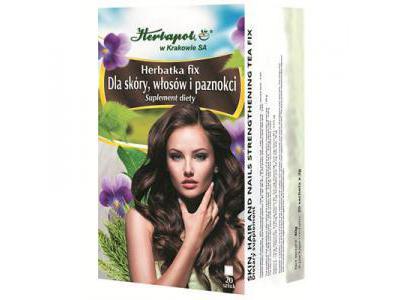 Herbata fix Dla skóry włosy i paznokcie 20 sasz